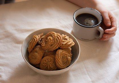 Biscuits au café véganes