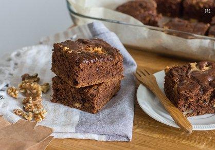 Brownies vegan au caramel & cacahuète