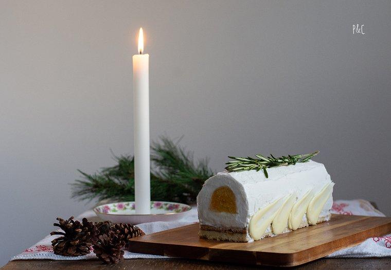 Bûche de noël vegan au romarin & agrumes