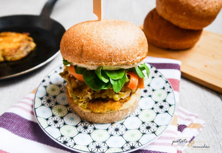 Burger vegan au butternut et houmous