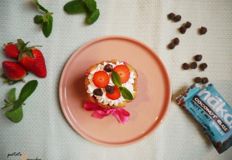 Charlotte aux fraises et coco vegan