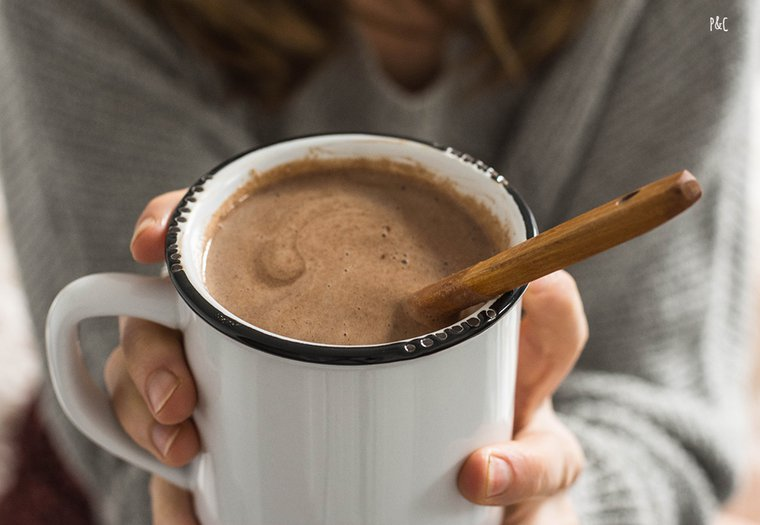 Chocolat chaud à la banane