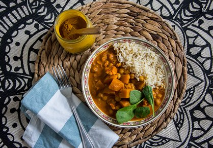 Curry de pois chiche et courge