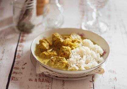 """Curry de """"poulet"""" de seitan"""