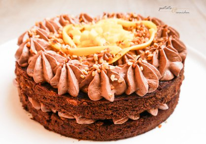 Gâteau chocolat mangue vegan