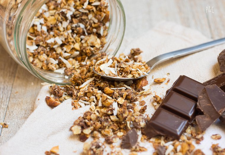 Granola noix de coco – chocolat