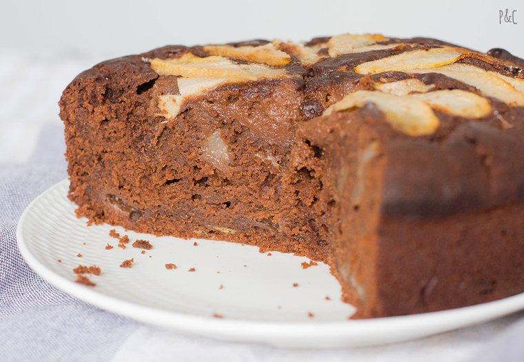 Moelleux vegan poire-chocolat