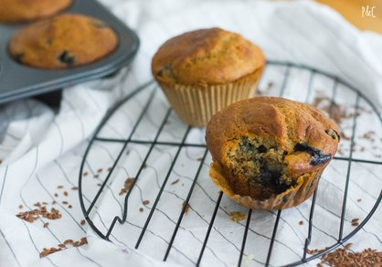 Muffins vegan aux bleuets
