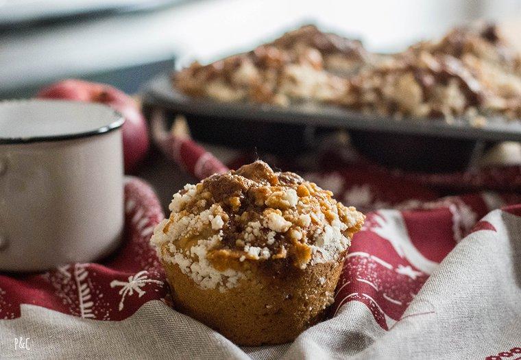 Muffins vegan pomme-caramel