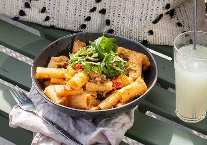Pâtes aux légumes grillés
