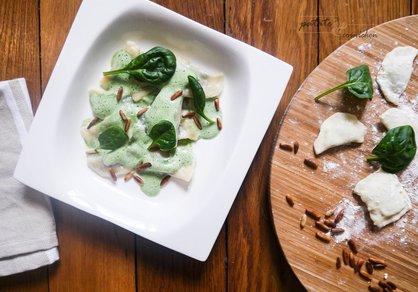 Ravioles vegan épinards-pignons de pin