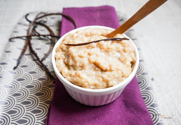 Riz au lait à la vanille (vegan)