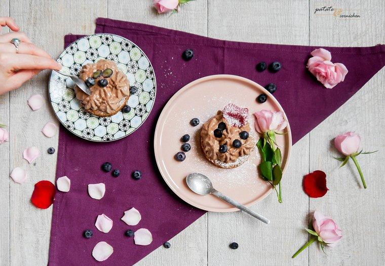 Sablés bretons et mousse au chocolat vegan