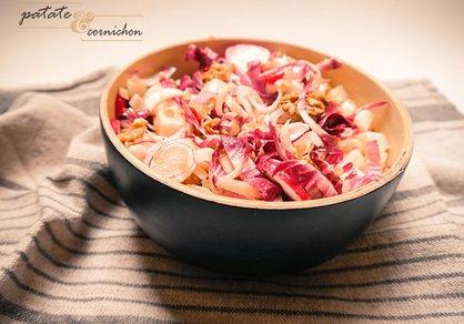 Salade d'endives rouges et poires
