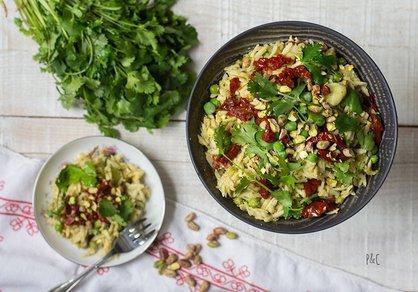 Salade d'orzo aux petits pois