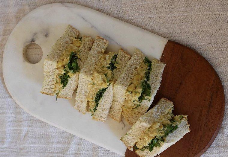 Sandwich style thon-mayonnaise végane