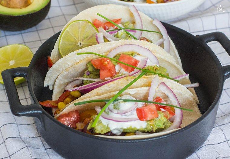 Tacos vegan au guacamole