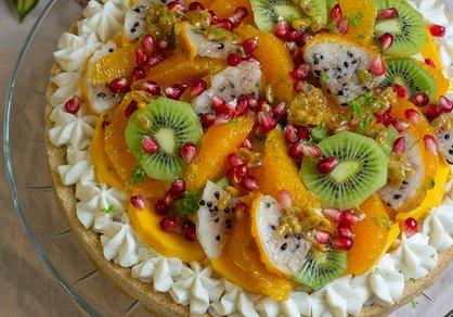 Tarte aux fruits végane