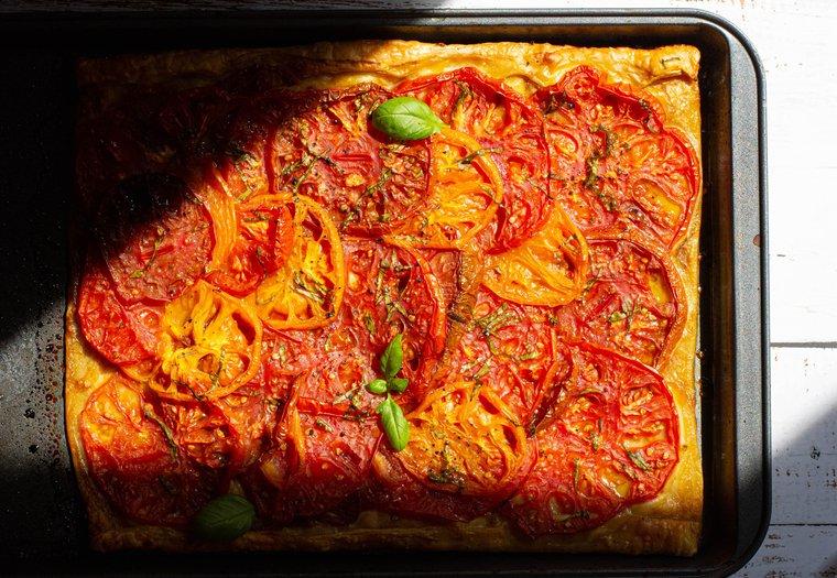Tarte fine aux tomates