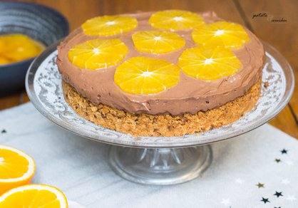 Tarte mousse au chocolat et orange