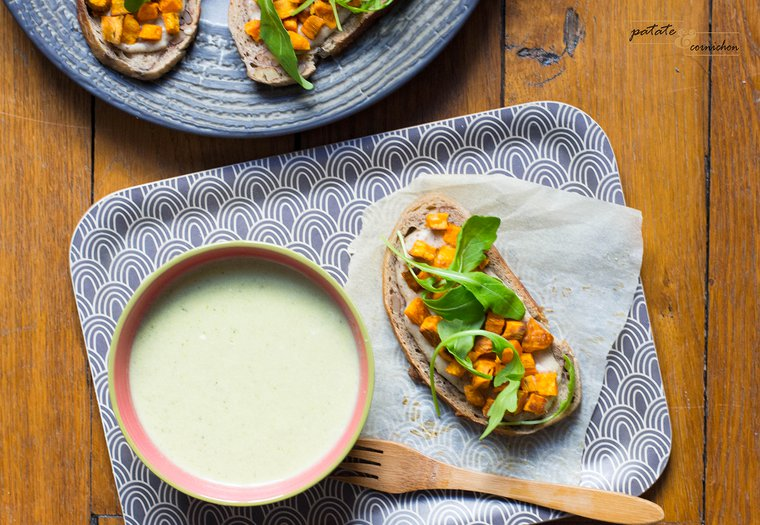 Tartine crème de noisette et patate douce